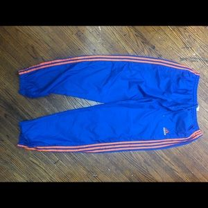 Sz. XL Vtg Adidas 90s Nylon Ankle Zip Track Pants